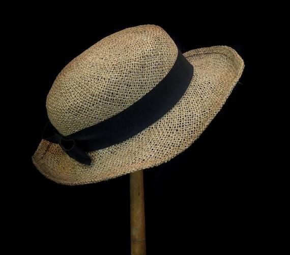 Vintage Antique English Straw Hat / Vintage Skimme