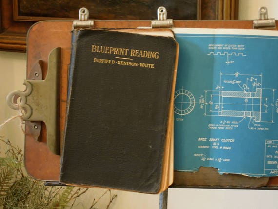 Antique vintage 1919 blueprint reading book american malvernweather Image collections