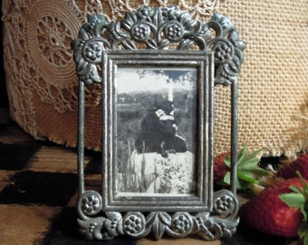 Fabulous Vintage  Silver Plate Embossed  Decorative Picture Frame