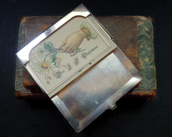 Vintage Silver Plate Business Card Holder / Calling Card Holder / Silver Plate Calling Card Case / Reed and Barton Silver