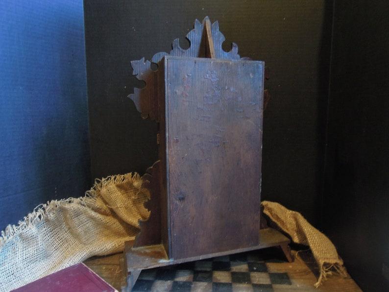 Antique Clock Curio Cupboard  Victorian Wood Clock Cabinet   Storage Box  Wall Cupboard  Display Cabinet  Rustic