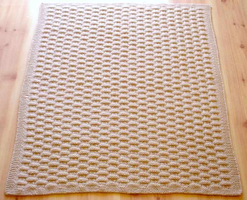 Shower Gift Hand-Knit Baby Blanket Afghan Baby Boy or Girl