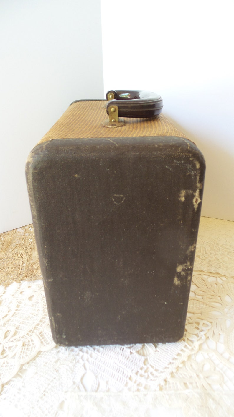 Vintage Tweed PHOTO SLIDE CASE Photographer Collectible Gift,Suitcase,B /& J Unifile Tweed Slide Case with Handle and 3 Drawers for Display