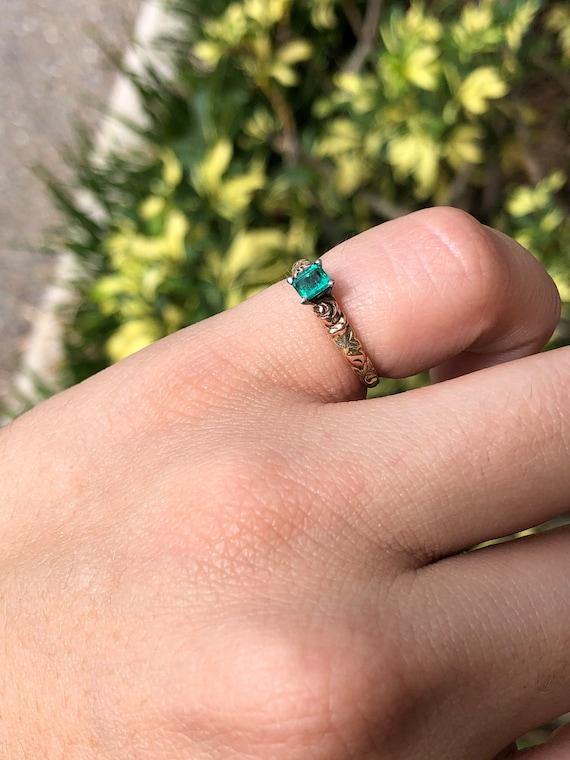 Black Hills Gold Ring, Emerald Black Hills Gold, … - image 2