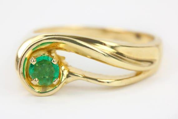 Smaragd Gold Ring Gold Smaragd Ring Grun Stein Ringe Etsy