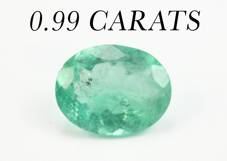 0.99cts ovale émeraudes colombiennes, 8 x 6 6 6 mm véritable ovale pierre précieuse émeraude, gemme lâche émeraude, ovale précieuse émeraude émeraude, naturel 107472