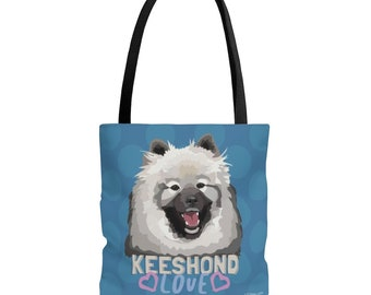 Dog Lover Gift Doggy Bag Canvas Tote Bag Cool Dog Tote Kai the Keeshond