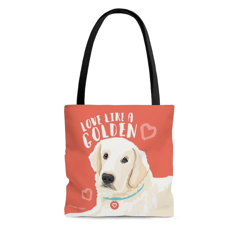Gifts For Golden Retriever Owners - Love Like A Golden Tote Bag.
