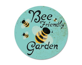 "Bee Friendly Garden 9"" round aluminum"
