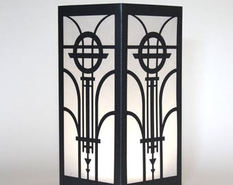 Art Deco Design Laser cut Luminary Table Lamp Centerpiece - #69