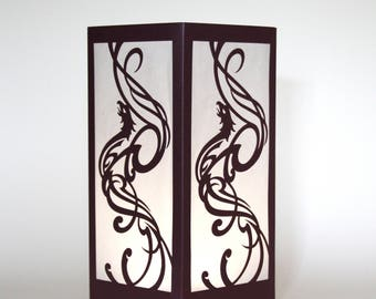 Phoenix Rising Laser cut Luminary Table Lamp Centerpiece - #24