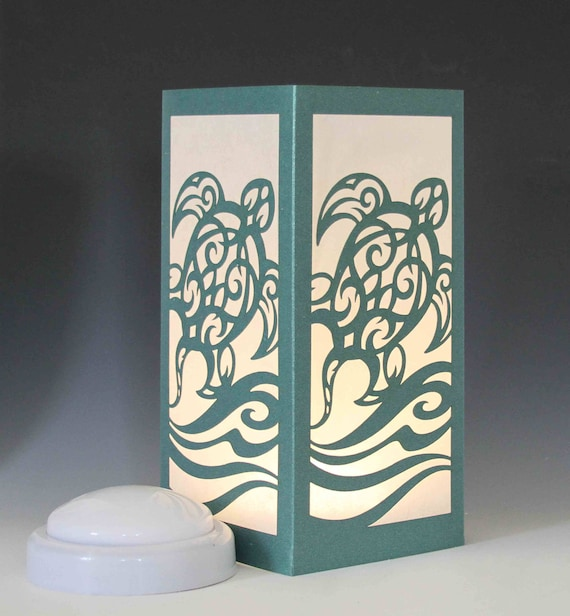 Sea Turtle Laser Cut Luminary Table Lamp Centerpiece 76 Etsy