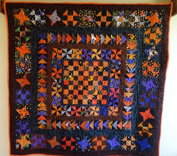 Quilted Wall Quilt Large Halloween Wall Hanging Wall Quilt Etsy
