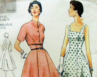 Vogue 2267 Sewing Pattern, 1954 Dress Pattern, Vogue Reissue, Bust 38, 1990s Pattern, Sundress Pattern, Bolero Pattern, Flared Skirt