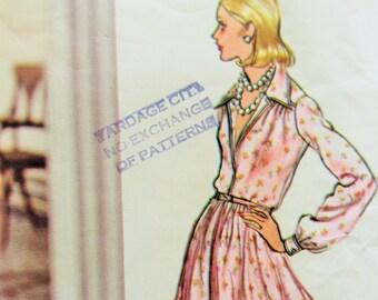 Vintage Vogue 2880 Sewing Pattern, Oscar de la Renta, 1970s Dress Pattern,  Bust 34 , Vogue Americana, SEW IN LABEL, 1970s Sewing Pattern