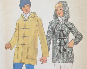 Vintage Simplicity 7235 Sewing Pattern, 1970s Hooded Coat Pattern, Bust 36, Toggle Closing, MISSES' Jacket Pattern, 1970s Sewing Pattern