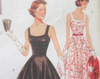 Vogue 2902 Sewing Pattern, 1950s Dress Pattern Reproduction REISSUE, Bust 30.5 to 32.5, Full Skirted Dress, Sundress Pattern, Sun Dress