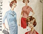 Vintage Butterick 2178 Sewing Pattern, 1960s Suit Pattern, Jackie O Suit, Slim Skirt, Bust 36, 1960s Sewing Pattern, Cropped Jacket Pattern