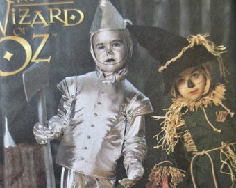 Vintage Simplicity 7814 0634 Sewing Pattern, Wizard of Oz Costume Pattern, Tin Man Pattern, 90s Oz Scarecrow Boy's Costume, Chest 22 to 27