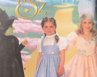 Simplicity 7801 0631 Sewing Pattern, Wizard of Oz Costume, Breast 22 to 27, Halloween Costume Pattern, Oz Dorothy, Good Witch Wicked Witch