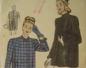 Vintage Vogue 5597 Sewing Pattern, Smock Pattern, 1940s Sewing Pattern, Swingy Coat Pattern, Maternity, 1940s Coat, Bust 32 - 34, Sewing