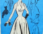 Vintage Halter Dress Pattern, Mail Order Pattern, 1950s Dress Pattern,  Bust 32, Del Mar Design, Bolero Jacket, 1950s Sewing Pattern