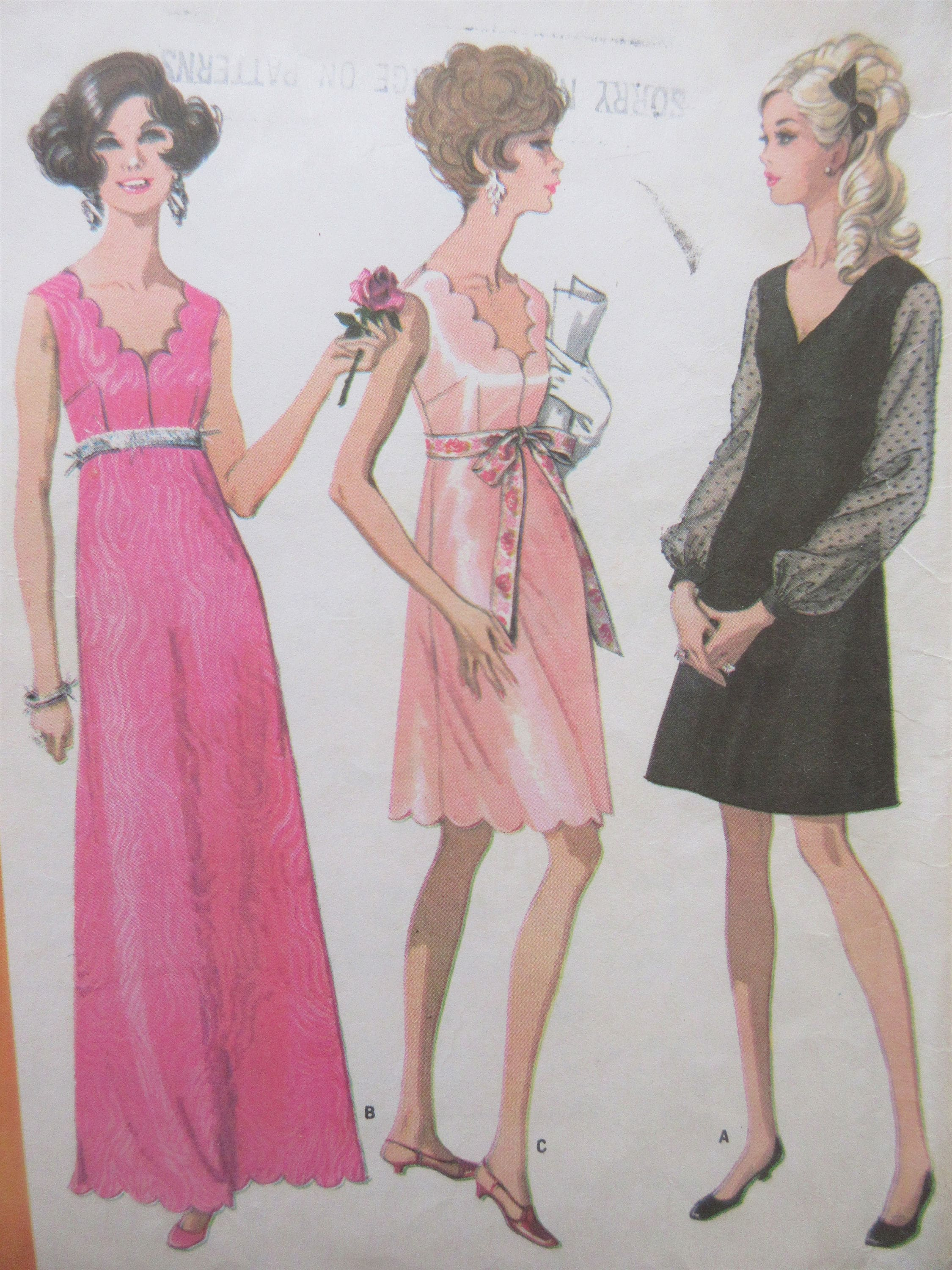 Vintage McCall\'s 9463 Sewing Pattern, Long Dress Pattern, Formal ...
