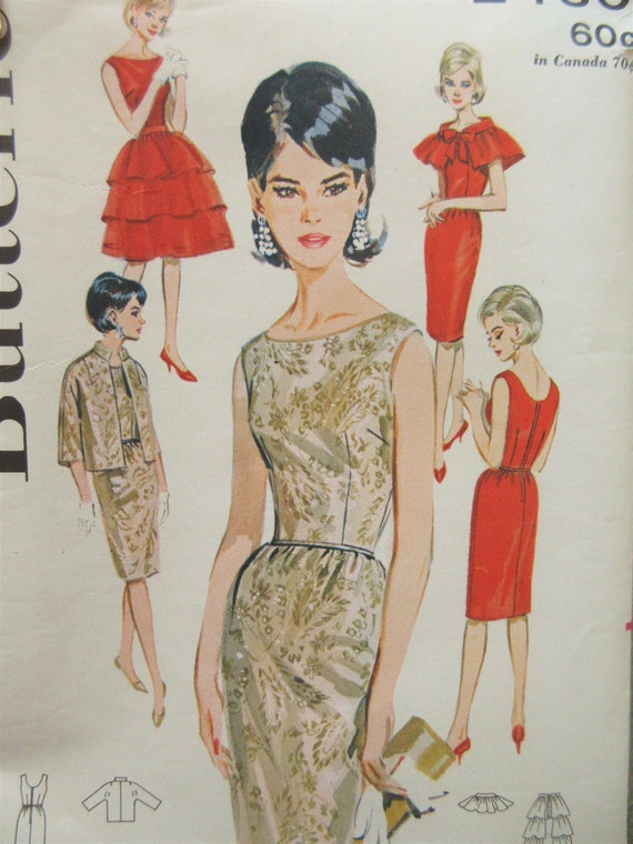 Etuikleid 1960er Jahre Schnittmuster Capelet Muster Jacke | Etsy