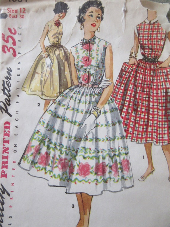 Vintage Einfachheit 1084 Schnittmuster 1950er