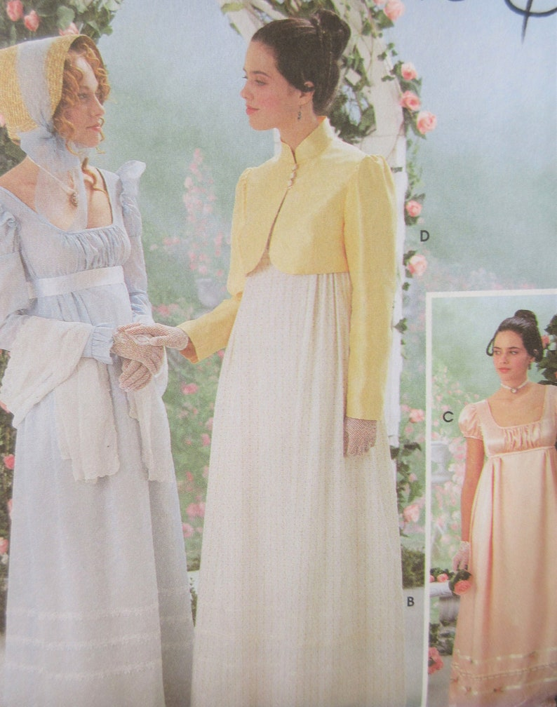 d95017e87 Regency Jane Austen Dress Day Dress Pattern Simplicity 9921