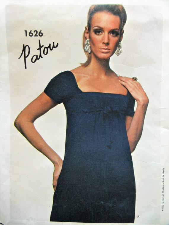 Vintage Vogue 1626 Schnittmuster Patou Kleid Schnittmuster der | Etsy