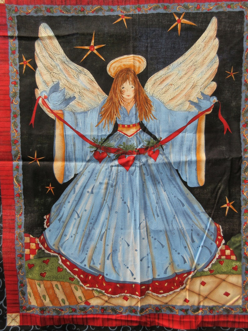 Angel Printed On Fabric Panel Make A Cushion Upholstery Craft