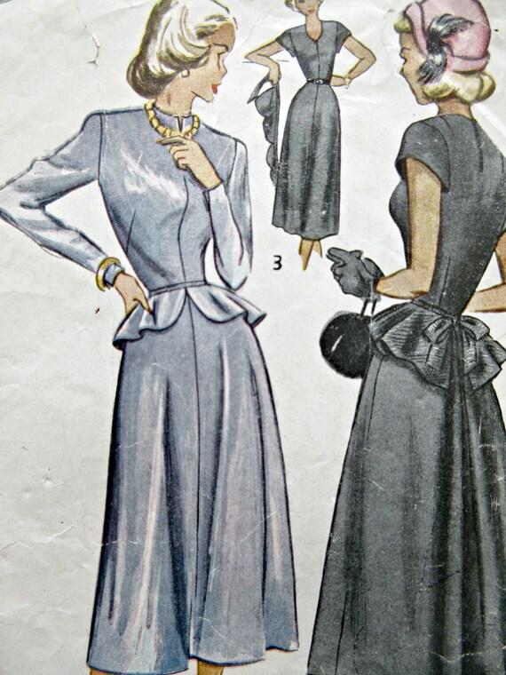 Vintage Einfachheit 2590 Schnittmuster 1940er Kleid Muster