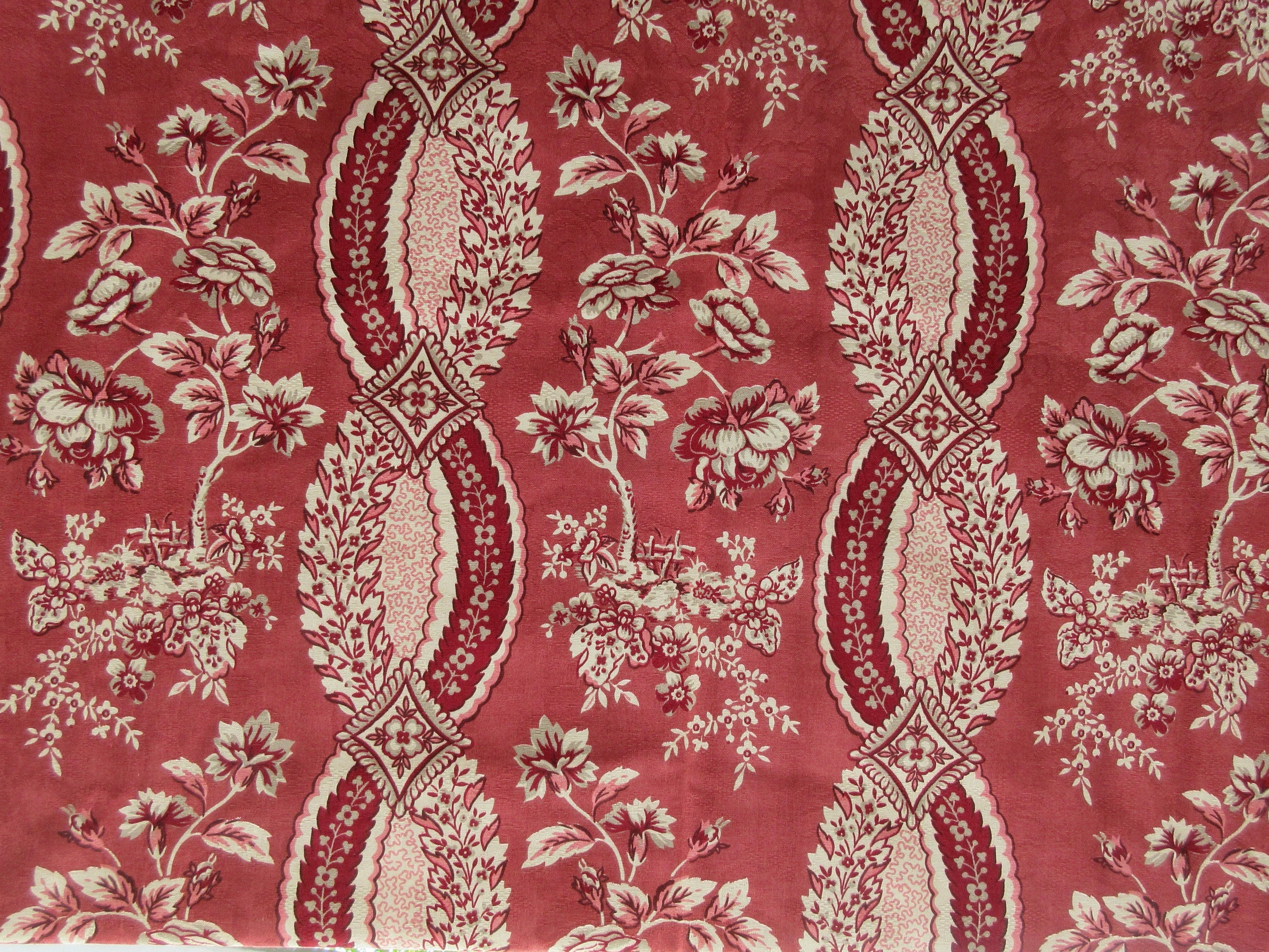 Waverly Home Dec Fabric One Yard Toile Like Floral Fabric Etsy