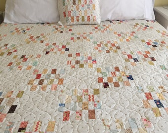 Seaglass Quilt - FigTree & Co and Minick and Simpson fabrics with BONUS cushion