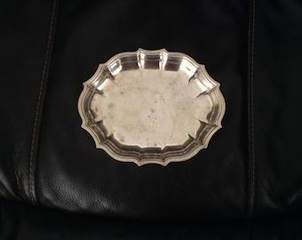 Vintage, Chippendale Bon Bon Dish, Candy Dish, #6394, Silverplate, Nut Dish