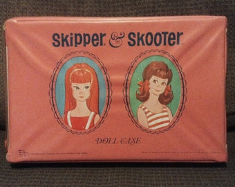 Vintage, Skipper and Skooter Doll Case & Skipper Doll, Mattel