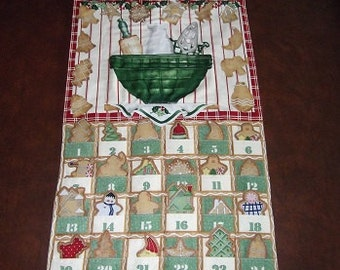 Christmas Advent Calendar - Gingerbread Cookies