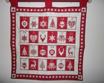 Christmas Advent Calendar - Scandinavian Red