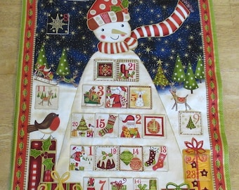 Christmas Advent Calendar - Tall Decorated Snowman