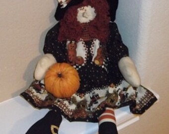 Halloween Decoration - Wendy Witch - Red Hair