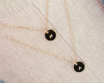 Double Strand Initial Necklace // Gold filled Initial Layered Necklace // Personalized Necklace // Two Initials Necklace // Mothers Jewelry