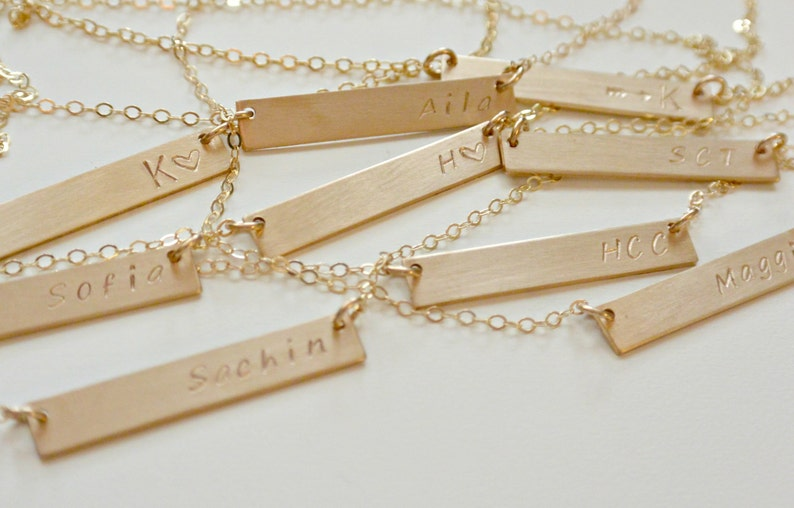 a8556b760e9 Personalized Bar Necklace, Silver, Gold, Rose Gold, Nameplate Necklace  Personalized Jewelry, Gifts for Her, Best Friend, Graduation Gift