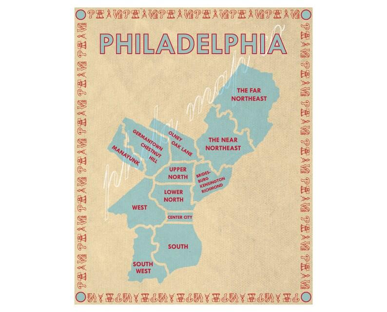 Philadelphia Neighborhoods Map image 0
