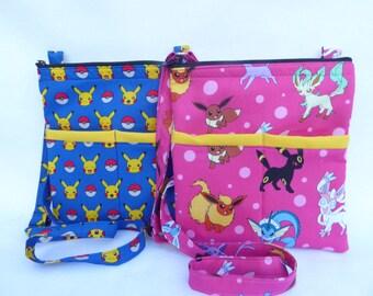 Pokemon Crossbody Bag // Sling Bag // Crossbody Purse // Picachu // Pokemon Go