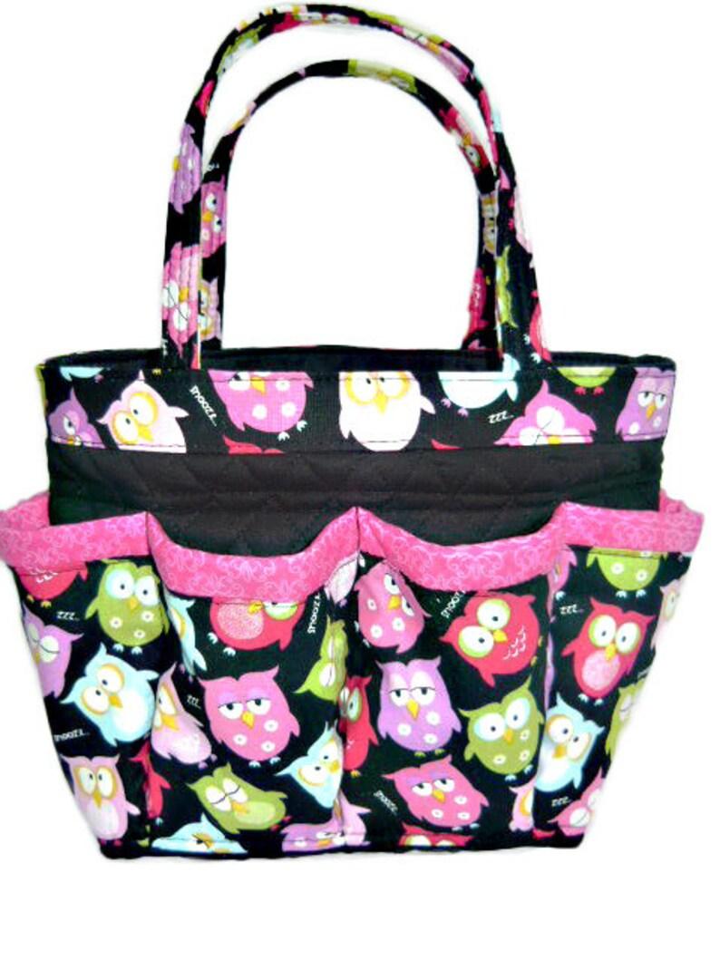 c2c91934144e Owls Bingo Bag    Craft Organizer    Makeup Organizer    Caddy