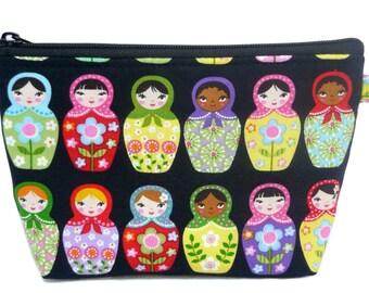 Matryoshka Dolls Makeup Bag