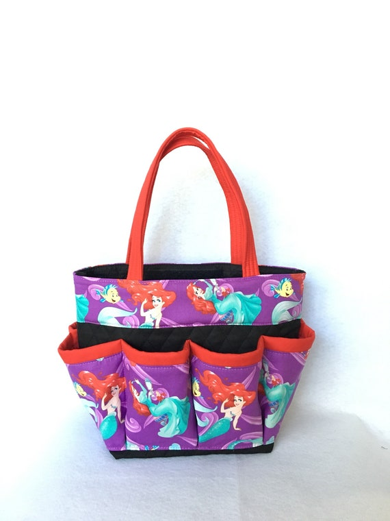324f4165341b Little Mermaid Print Bingo Bag    Craft Organizer    Makeup