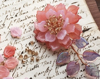 The New Year Special Embrace Peony Brooch