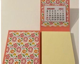 Sticky Note Pad 2022 Calendar Set of 2 Stocking Stuffer Table Favor Coworkers Teachers Random Kindness 3 x 3